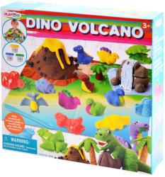 Playgo Dínós gyurmakészlet vulkánnal