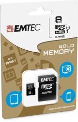 EMTEC Gold+ microSDHC 8GB Class 10 ECMSDM8GHC10GP