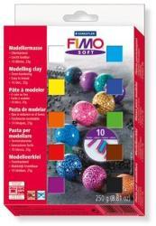 FIMO Soft Material Pack égethető gyurma készlet - Vegyes színek - 10x25g (FM802301)