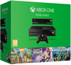 Microsoft Xbox One 500GB + Kinect + Dance Central Spotlight + Zoo Tycoon + Kinect Sports Rivals