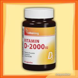 Vitaking Vitamin D-2000 D3-vitamin kapszula (90db)