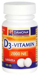 Damona D3-Vitamin 2000 NE tabletta (100db)