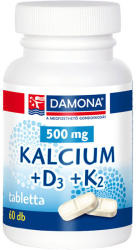 Damona Kalcium+D3+K2 tabletta (60db)