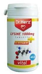 Dr. Herz Lysine 1000mg + C-Vitamin Tabletta (60db)