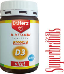 Dr. Herz D3-Vitamin 2000 NE tabletta (60db)