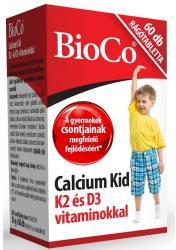 BioCo Calcium Kid Rágótabletta K2 És D3-Vitaminnal (60db)