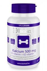 bioheal Kalcium 500mg+D3+K2-Vitamin tabletta - 70 db
