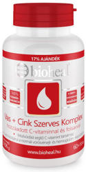 bioheal Vas+Cink szerves komplex C-vitaminnal és folsavval tabletta - 70 db