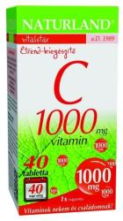 Naturland C-Vitamin 1000mg tabletta - 40 db