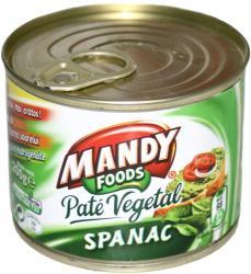 MANDY FOODS Spenótos Növényi Pástétom (200g)