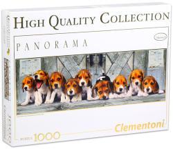 Clementoni Panoráma Puzzle - Beagle kiskutyák 1000 db-os (39706)