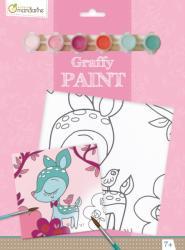 Avenue Mandarine Festővászon előre rajzolt mintával - Őz