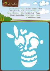 Avenue Mandarine Sablon készlet - 6db - Húsvéti nyuszi