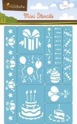 Avenue Mandarine Mini sablonok - 10db - Születésnap