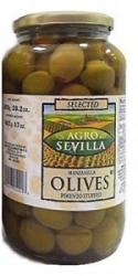 AGRO SEVILLA Paprikás Zöld Olívabogyó (935g)