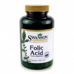 Swanson Folic Acid (Folsav/B4-vitamin) kapszula - 250 db