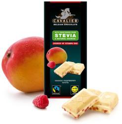 CAVALIER Fehércsokoládé Mangóval És Málnával Steviával Édesítve (85g)