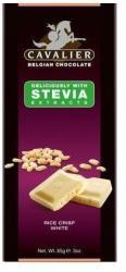 CAVALIER Puffasztott Rizses Fehércsokoládé Steviával Édesítve (85g)