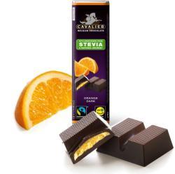 CAVALIER Narancsos Étcsokoládé Steviával Édesítve (40g)