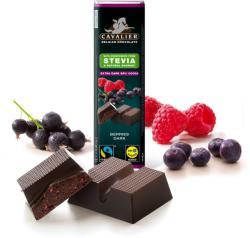 CAVALIER Bogyós Gyümölcsös Étcsokoládé Steviával Édesítve (40g)