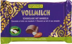 RAPUNZEL Cristallino Bio Tejcsokoládé Mandulával (100g)