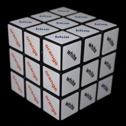 Rubik Szöveg kocka 3x3 - színes