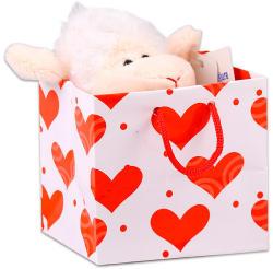 Uni-Toys Bárány szívecskével ajándéktasakban 12cm
