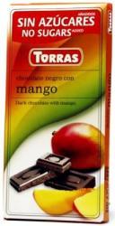 TORRAS Cukor- És Gluténmentes Mangós Étcsokoládé Maltitollal Édesítve (75g)