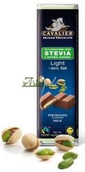 CAVALIER Light Pisztáciakrémes Tejcsokoládé Steviával (40g)