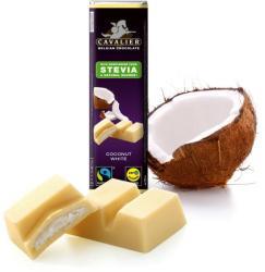 CAVALIER Kókuszos Fehércsokoládé Steviával (40g)