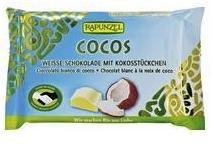 RAPUNZEL Cristallino Bio kókuszos fehércsokoládé (100g)