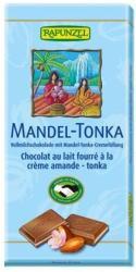 RAPUNZEL Bio Tejcsokoládé Mandula-Tonka Krémmel Töltve 37% (100g)