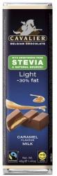 CAVALIER Light Tejcsokoládé Karamellkrémmel Steviával Édesítve (40g)