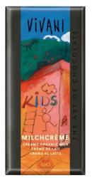 VIVANI Bio Kids Tejcsokoládé Tejkrémmel (100g)