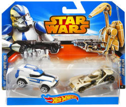 Mattel Hot Wheels - Star Wars kisautók - 501st Clone Trooper és Droid