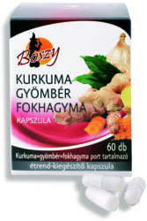 Boszy Kurkuma, gyömbér, fokhagyma kapszula - 60 db