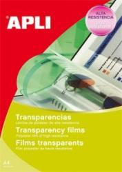 APLI Fólia, írásvetítőhöz, A4, fekete-fehér lézernyomtatóba, APLI (FOLA1062) (FOLA1062)