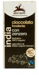Alce Nero Bio Gyömbéres Étcsokoládé (50g)