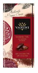 VANINI Étcsokoládé Kakaódarabkákkal 74% (100g)