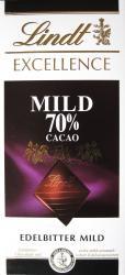 Lindt Excellence Mild 70% Cacao étcsokoládé (100g)
