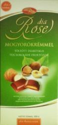 dia Rose Diabetikus Tejcsokoládé Mogyorókrémmel (100g)