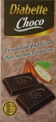 Diabette Choco Étcsokoládé Fruktózzal (80g)
