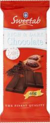 Sweetab Diétás Étcsokoládé (60g)
