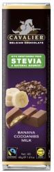 CAVALIER Tejcsokoládé Banán Krémmel És Kakaó Darabokkal Steviával Édesítve (40g)