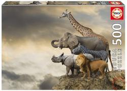 Educa Állatok a szikla szélén 500 db-os (16737)