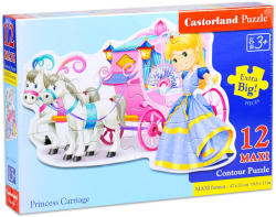 Castorland Maxi Puzzle - Hercegnő hintója 12 db-os (B-120017)