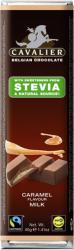 CAVALIER Tejcsokoládé Karamellkrémmel Steviaval Édesítve (40g)