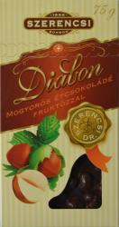 SZERENCSI Diabon Mogyorós Étcsokoládé Fruktózzal (75g)