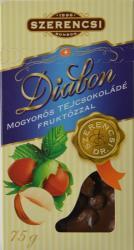 SZERENCSI Diabon Mogyorós Tejcsokoládé Fruktózzal (75g)