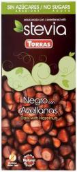 TORRAS Cukor- És Gluténmentes Mogyorós Étcsokoládé Steviával (100g)